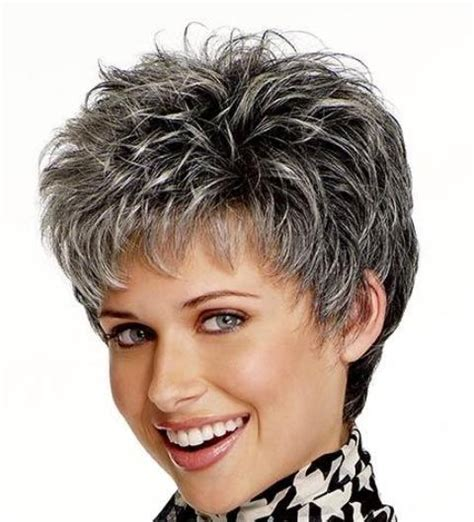 spiked grey hair style pictures pull great looks with short messy hiar short hairstyles