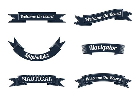 nautical ribbon   vectors clipart graphics