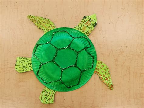 Turtle Paper Plate Craft - paper plate turtle craft phpearth