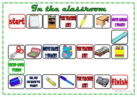 printable games classroom classroom board game worksheet free esl printable
