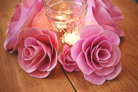 How To Make Paper Roses With Construction Paper - how to make paper flowers a beautiful mess