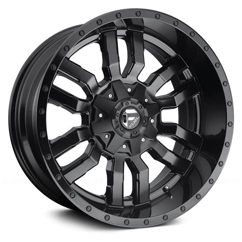 fuel wheels fuel 174 d596 sledge 1pc wheels matte black with gloss