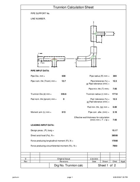 Site Plan Drawing Software trunnion calculation sheet