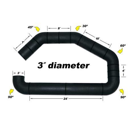 Intake Open Air Filter Universal Diameter Inlet 3inch airaid universal 3 inch air intake tubing set u build it 100 300