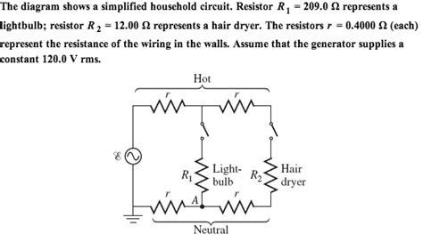 Diagram Kelistrikan Hair Dryer solved the diagram shows a simplified household circuit