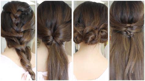 6 peinados faciles rapidos y bonitos para ir a youtube peinados s 218 per r 193 pidos youtube
