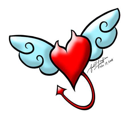 devil heart tattoo designs and ribbon designs cliparts co