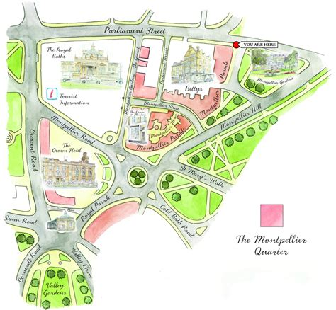 map home maps of the montpellier quarter harrogate