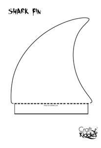 Shark Fin Template by Diy Paper Shark Hat Craft Kiddies
