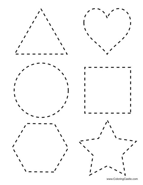 shape tracing templates free coloring pages of shapes tracing