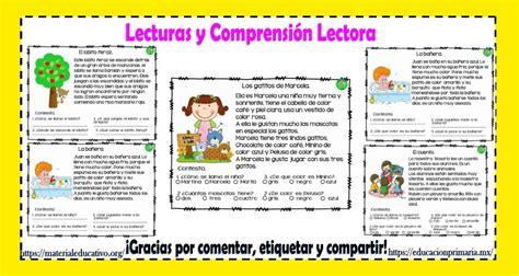 lectora para primer a tercer grado de primaria material educativo excelentes lecturas cortas con comprensi 243 n lectora para