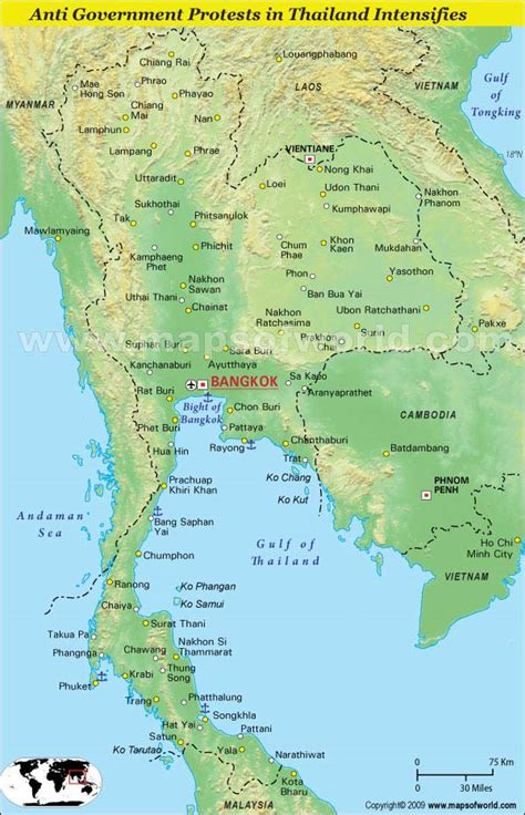 map thailand pin world map thailand on