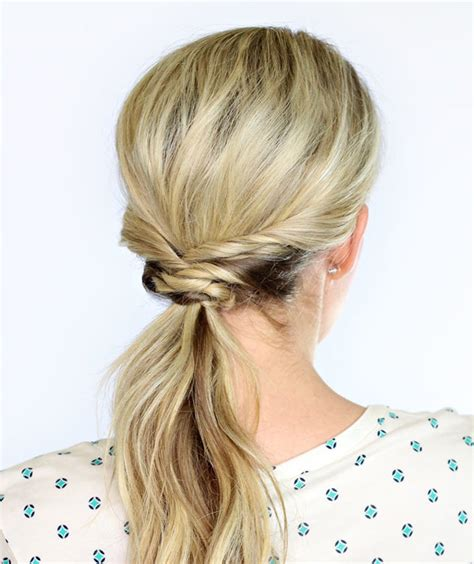 hairstyles for a casual day weaved ponytail office ready hairstyles real simple
