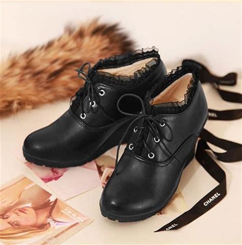 Sepatu Import Sandal Wanita Fashion Korea Jf36 Black jual winter wedges ankle boots boot cewek wanita korea import sepatu kulit amelie butik