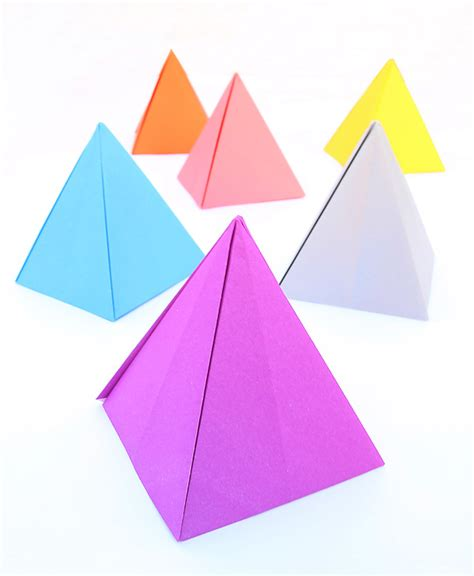 Origami For 6 Year Olds - origami pyramid passover centerpiece