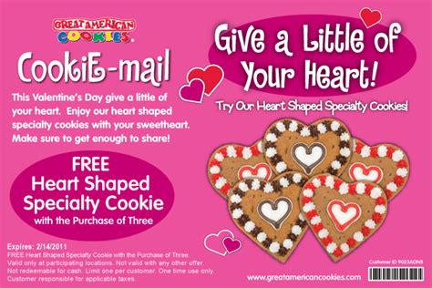 great american cookie valentines 25 subway gift card giveaway februany specials only 5