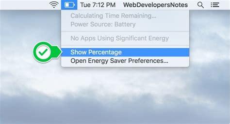 battery percentage   mac
