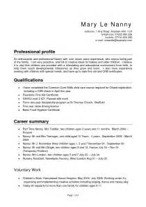 job description for nanny resume 2