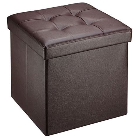 Ollieroo Faux Leather Folding Storage Ottoman Bench Seat Storage Ottoman Bench Seat