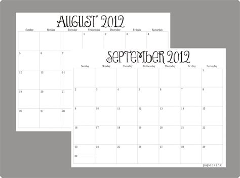 printable quarterly calendar 2013 8 best images of monthly calendar printable pdf october