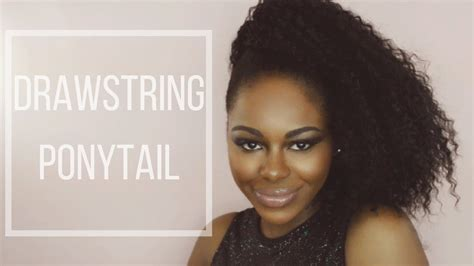 hump and drawstring ponytail tutorial youtube drawstring ponytail for short natural hair 5 easy