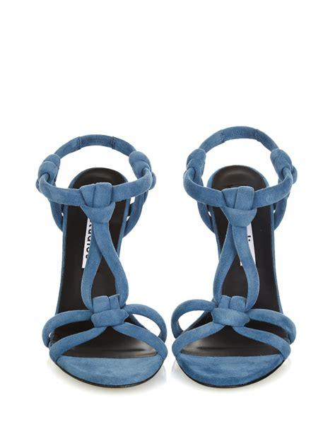 Wedges Korean Rajut Light Blue 1 acne studios bira suede sandals in blue lyst