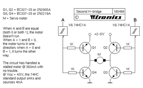 bipolar transistor h bridge education