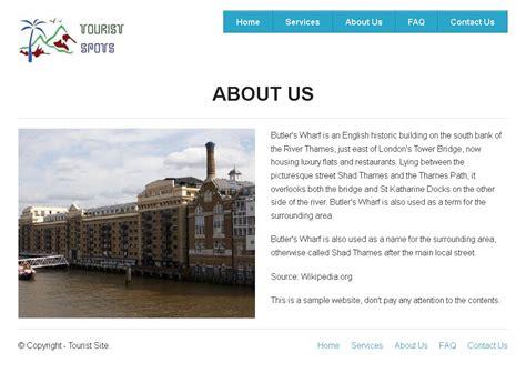 creating   page  tourist spots website  zurb
