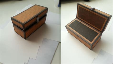 minecraft papercraft large chest by clownofabyss on deviantart
