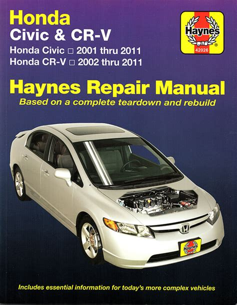 motor auto repair manual 2001 honda civic user handbook honda civic cr v repair manual 2001 2011 haynes 42026