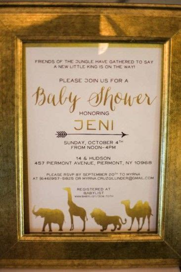 King Of The Jungle Baby Shower Invitations by King Of The Jungle Baby Shower Invitation Baby Shower