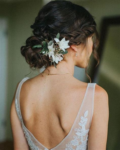 Wedding Hair Up At One Side by 38 Gorgeous Wedding Hairstyles With Fresh Flowers