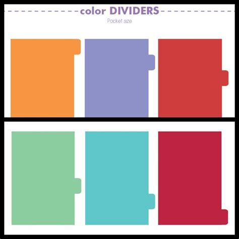 free printables plain dividers personal pocket size