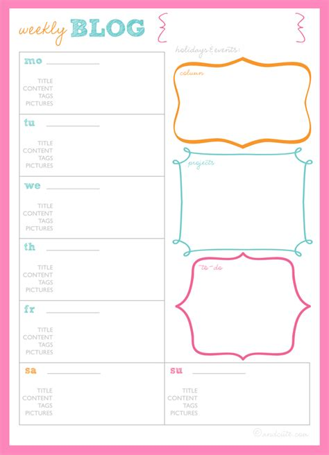 9 best images of cute printable weekly planners 2015 8 best images of cute printable weekly planners cute