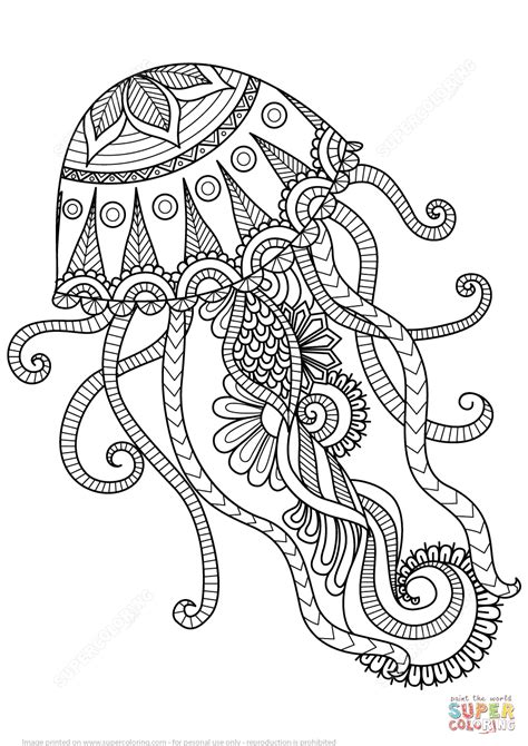 printable jellyfish images jellyfish zentangle coloring page free printable