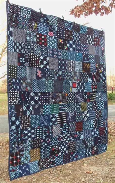 Indigo Quilt by Indigo Quilt Japanese Kasuri Boro Cotton Patchwork Textile