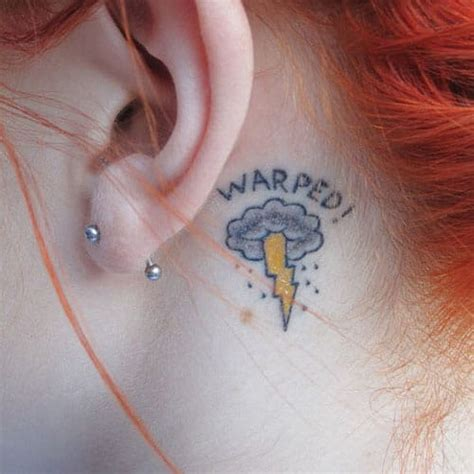 circle tattoo behind ear 25 awesome behind the ear tattoos part 3 tattoodo