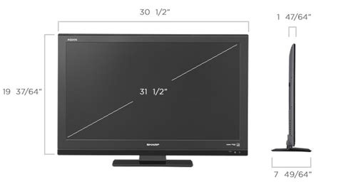Bando Tv 42inch 33 43inch sharp lc 32le440m 32 quot multi system led tv 110 220 240