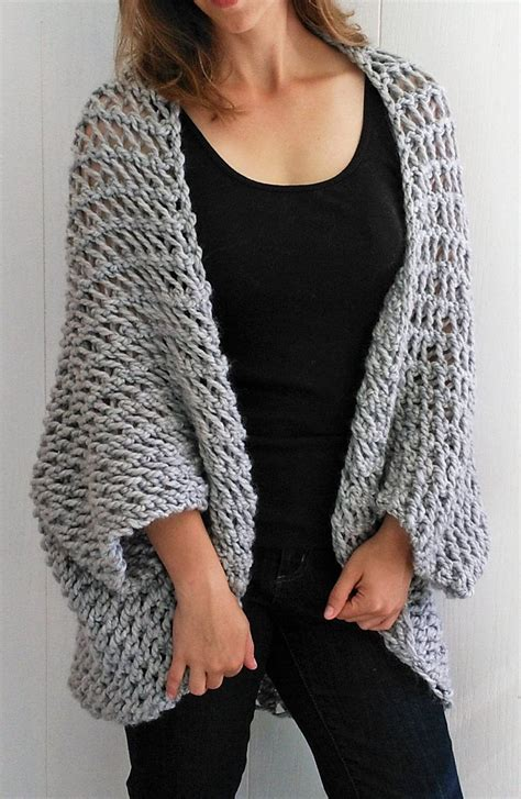 cardigan pattern easy knitting pattern for easy cocoon cardigan easy pattern