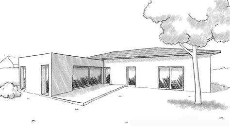 Plan Villa Plain Pied 4 Chambres by Plan Maison Plain Pied En L Avec 4 Chambres Ooreka