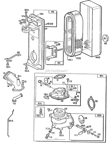 briggs and stratton carburetor diagram briggs and stratton 254422 0137 01 parts diagram for