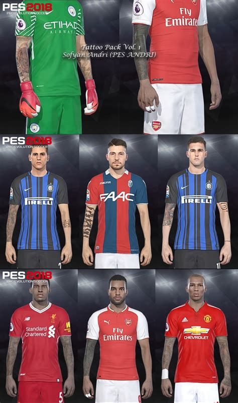 tattoo pack pes 2018 tattoo pack vol 1 pes 2018 pc by sofyan andri