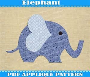 elephant applique template elephant applique pattern template pdf by adornablepatterns