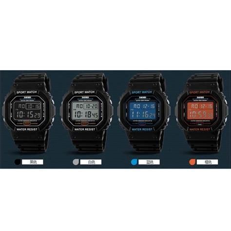 Jam Tangan Pria Skmei S Shock Sport Water Resista Baru 1 skmei jam tangan digital pria dg1134 black jakartanotebook