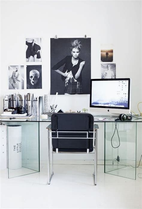 Office Desk Pinterest 25 Best Ideas About Glass Desk On Pinterest Glass Office Desk Glass Top Desk And Desk Space