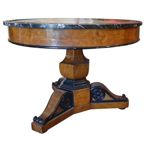 antique marble top pedestal table antique walnut burl wood marble top pedestal table with