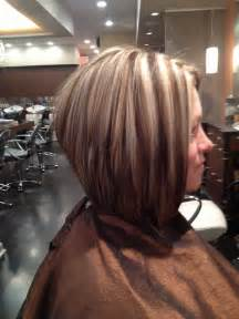 hi lohair cuts stacked bob with high lo lights hair and makeup pinterest