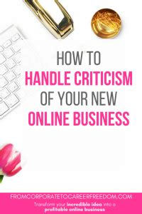 7 Tips On Handling Critics by How To Handle Criticism Of Your New Business From