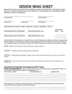Brag Sheet Template For Letter Of Recommendation Sample College Brag Sheet Submited Images