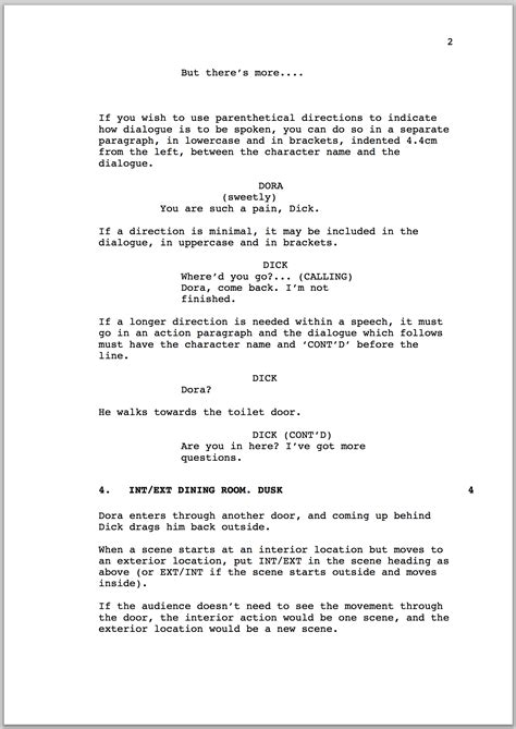 How To Format A Screenplay Australian Writers Centre Blog Screenplay Format Template